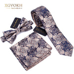 Luxury Bow Tie + Slim Neck Tie + Pocket Square Set - 20 Designs