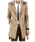Classic Double Breasted Trench Coat