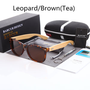 Retro Bamboo Wood Polarized Sunglasses