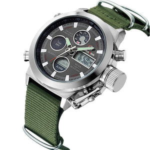 Luxury Military Chronograph Watch - Nylon Strap