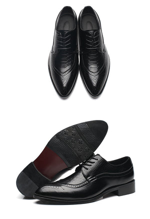 Luxury Leather Pointed Toe Dress Shoes
