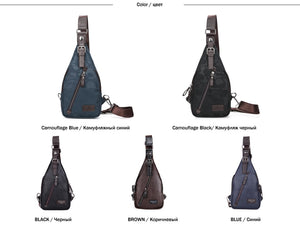 Luxury Leather Sling Bag - 5 Colors
