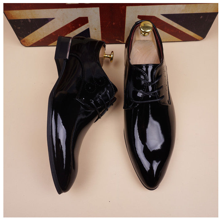 Luxury Vintage Patent Leather Oxford Dress Shoes