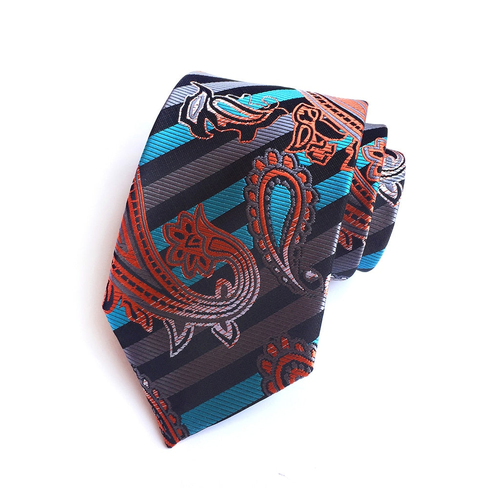 Luxury Paisley Woven Silk Ties - 8 Designs