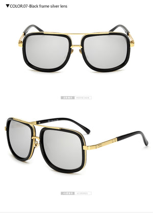 Square Pilot Mirrored Sunglasses