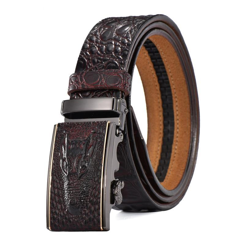 Luxury Leather Crocodile Buckle Belt
