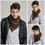 Faux Leather Neck Scarf - 4 Colors