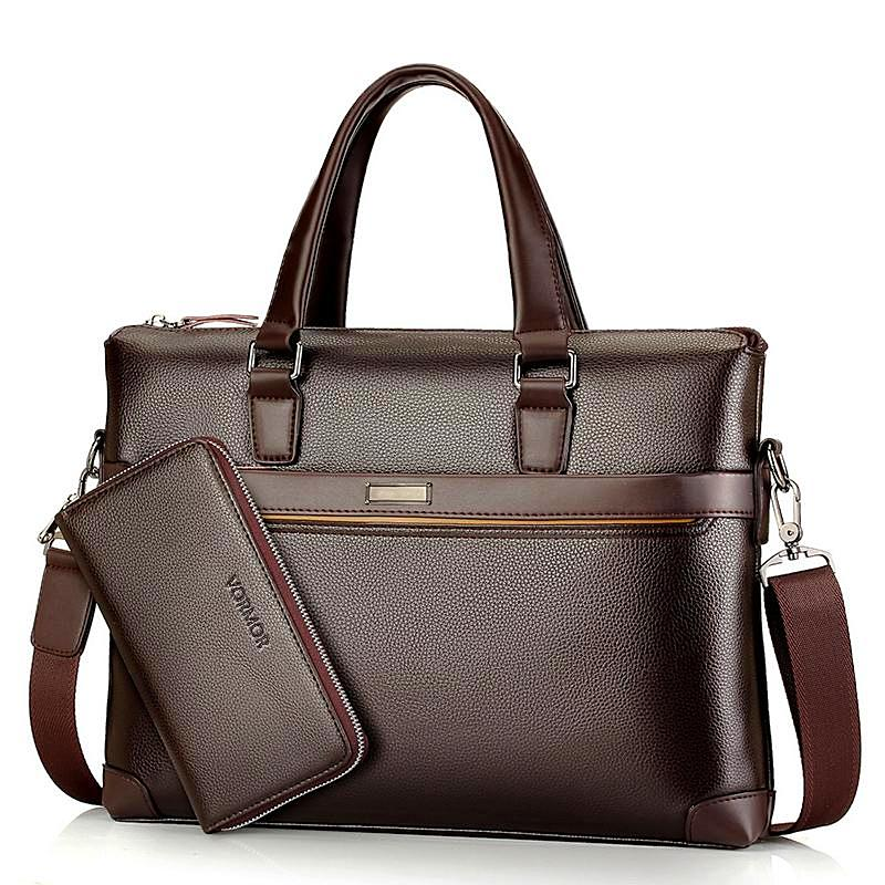 Luxury Leather Business Briefcase & Wallet - 3 Colors