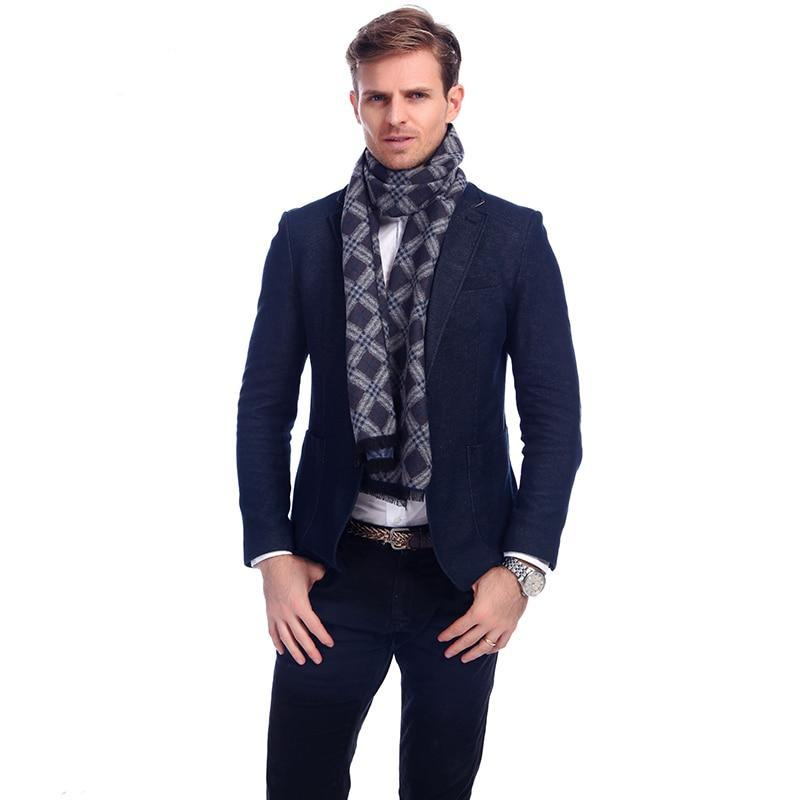 Luxury Cotton Plaid Scarf