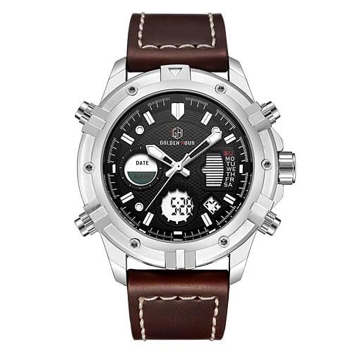 Classic Sports Analog Leather Watch