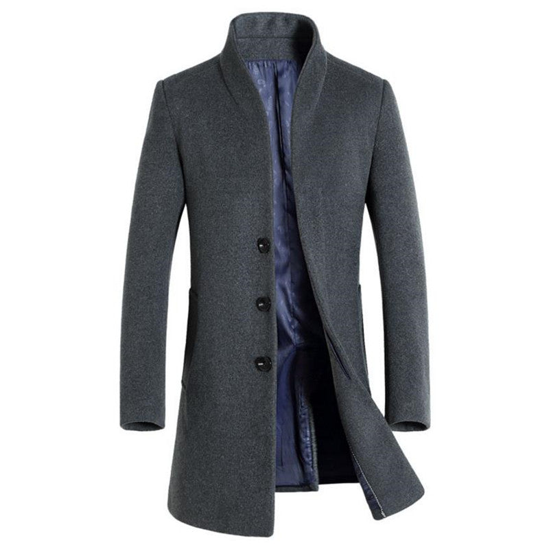Luxury Wool Slim Fit Winter Coat - 4 Colors