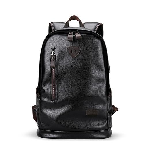 Luxury Leather Waterproof Backpack