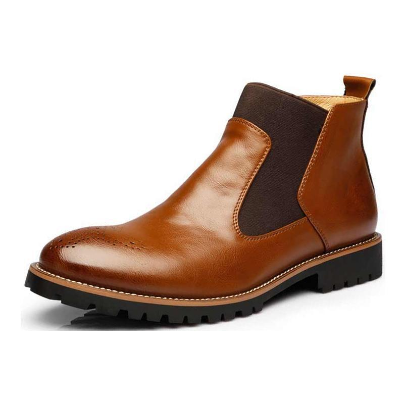 Luxury British Chelsea Leather Boots - 3 Colors