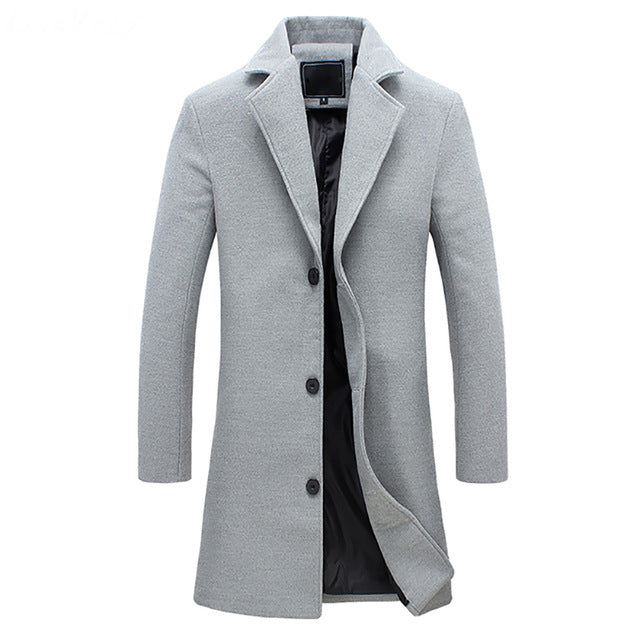 Stylish Long Wool Coat