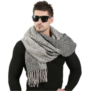 Premium Winter Knitted Wool Scarf - 6 Colors