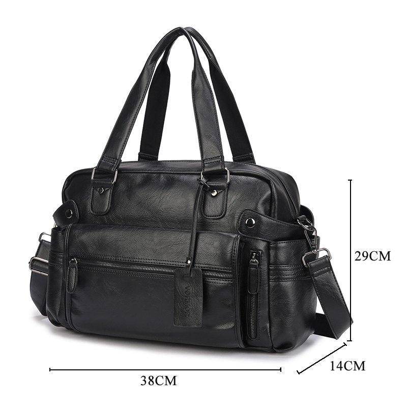 Luxury Leather Multipurpose Business Briefcase/Duffel Bag