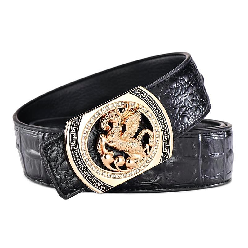 Luxury Pegasus Leather Belt