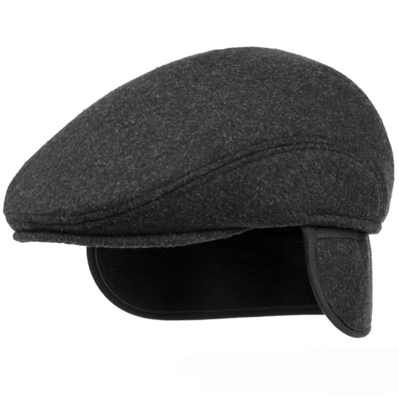 Retro Beret Hat with Ear Flaps