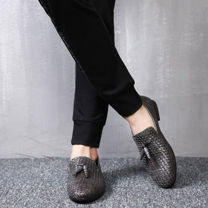 Luxury Tassel Weave Italian Leather Loafers - 3 Colors