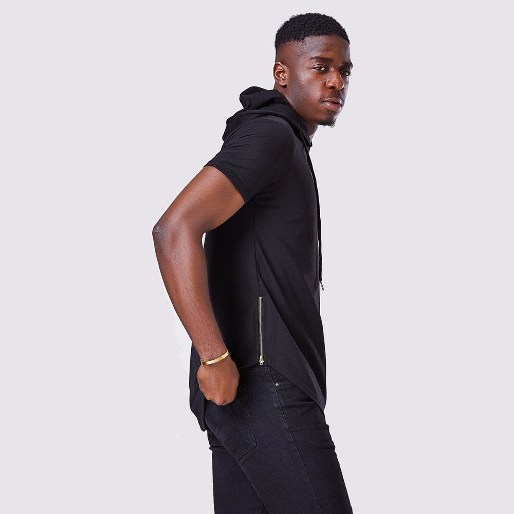 Luxury Hooded Long T-Shirt - 4 Colors