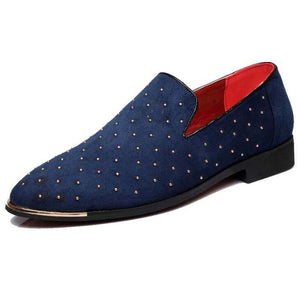 Luxury Leather Rivet Slip-On Shoes