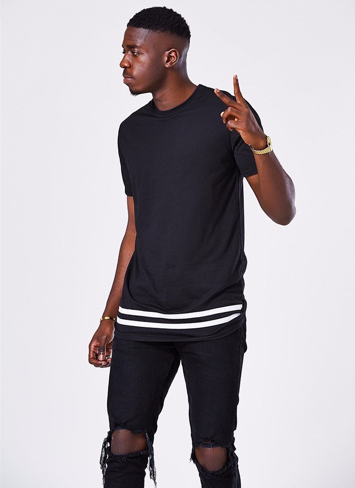 Longline Striped Long T-Shirt - 2 Colors