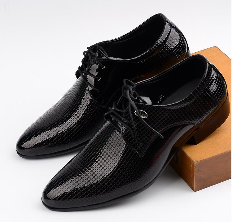 Modern Italian Style Leather Derby Shoes