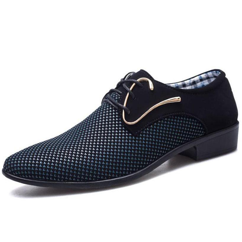 Modern Italian Leather Derby Shoes