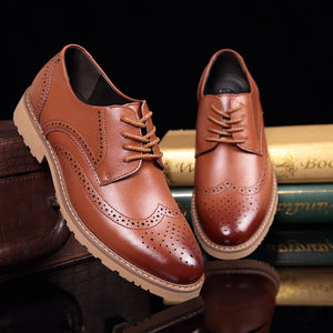 Luxury Vintage Leather British Brogues