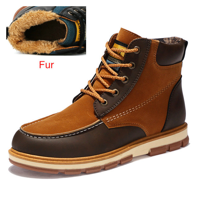 Premium Leather Fur Lined Ankle Boots - 3 Colors