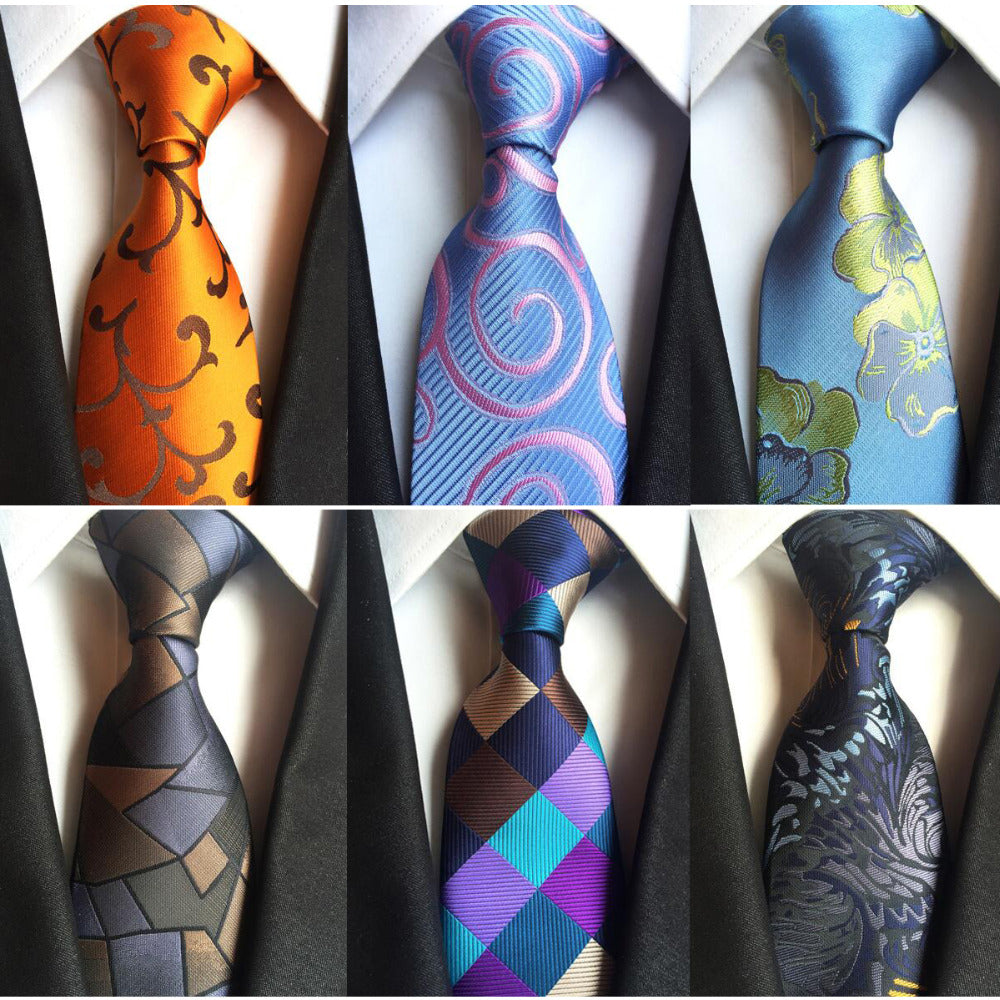 Classic Plaid Silk Neck Tie - 20 Colors