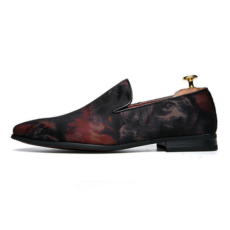 Luxury Hand-Painted Leather Italian Loafers - 2 Colors