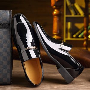 Luxury Leather Slip-On Dress Shoes