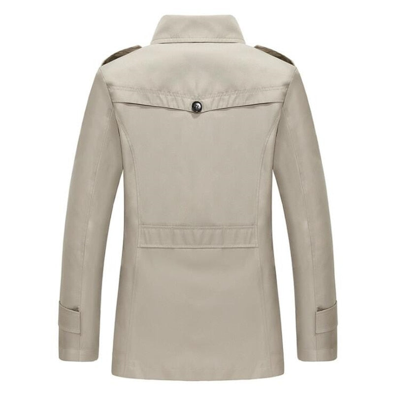 Luxury Turn-Down Collar Overcoat - 4 Colors