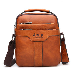 Luxury JEEP Leather Messenger Bag - 3 Colors