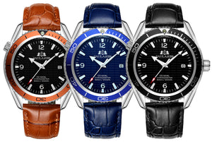 Luxury Automatic Bond Watch - Leather Strap