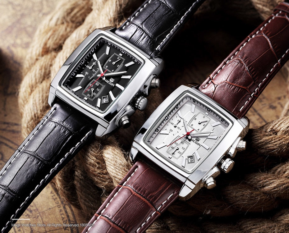 Premium Chronograph Leather Watch