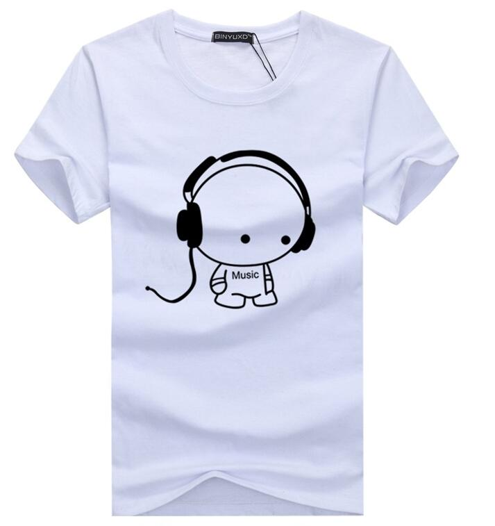 Printed MUSIC Cotton T-Shirt - 6 Colors