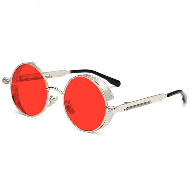 1955 Vintage Round Transparent Sunglasses