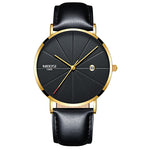 Celeste Ultra Thin Leather Strap Watch