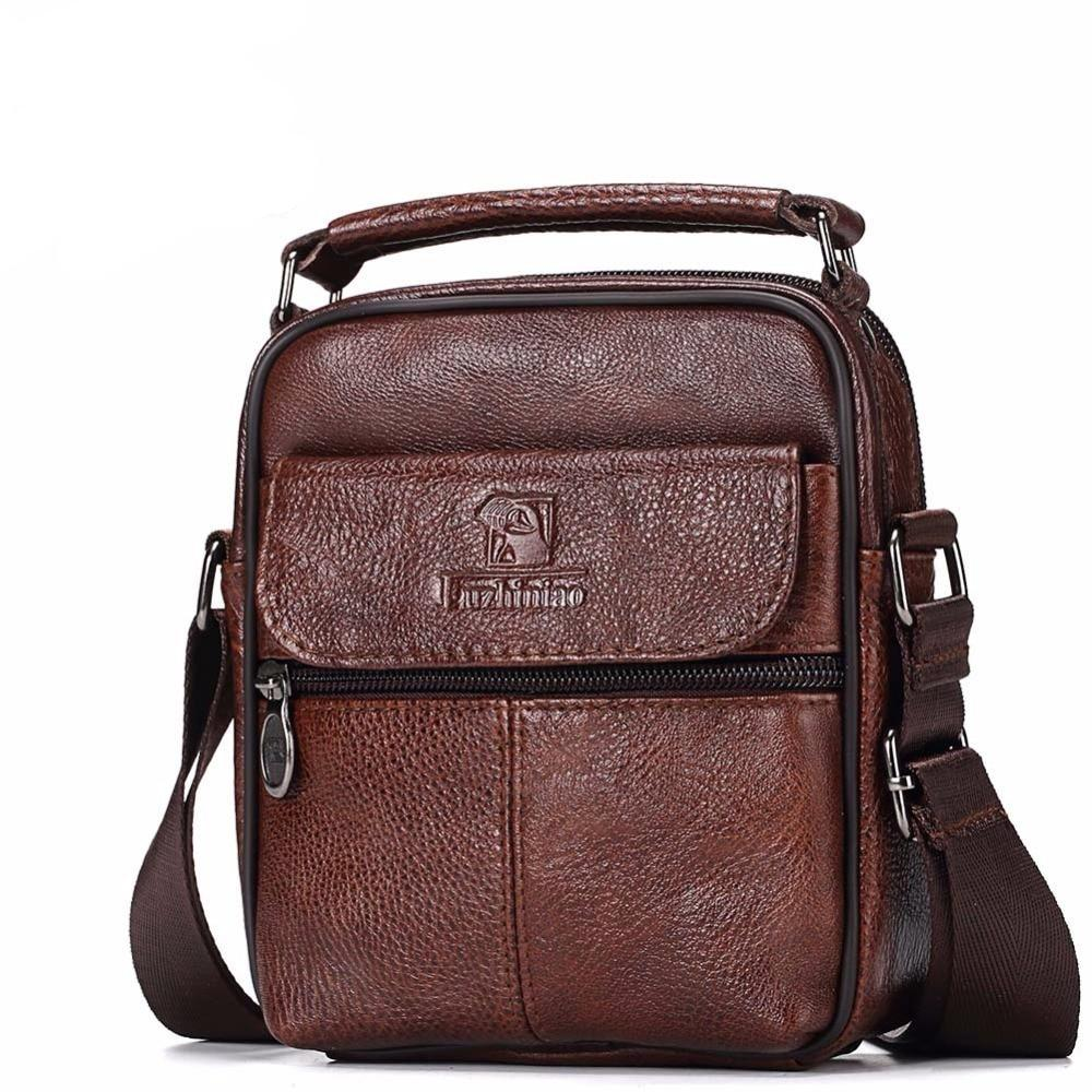 Genuine Raw Leather Messenger Bag