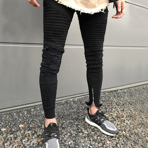 Black Skinny Stretch Ankle Zipper Jeans