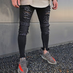 Destroyed Black Skinny Ripped Ankle Zipper Jeans