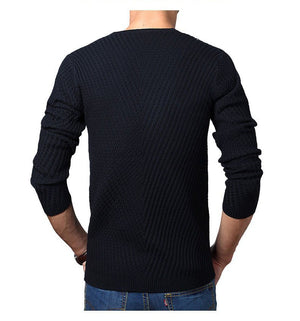 Premium Henley Neck Ribbed Sweater