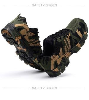 Premium Camouflage Puncture Proof Safety Shoes