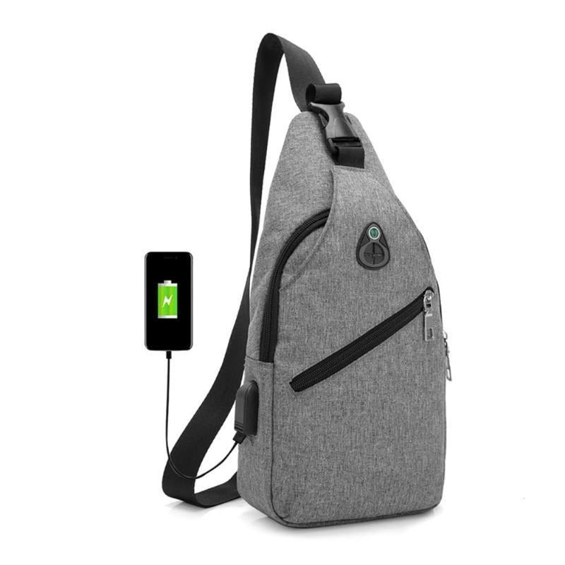 Oxford Crossbody/Sling Bag w/ USB Port