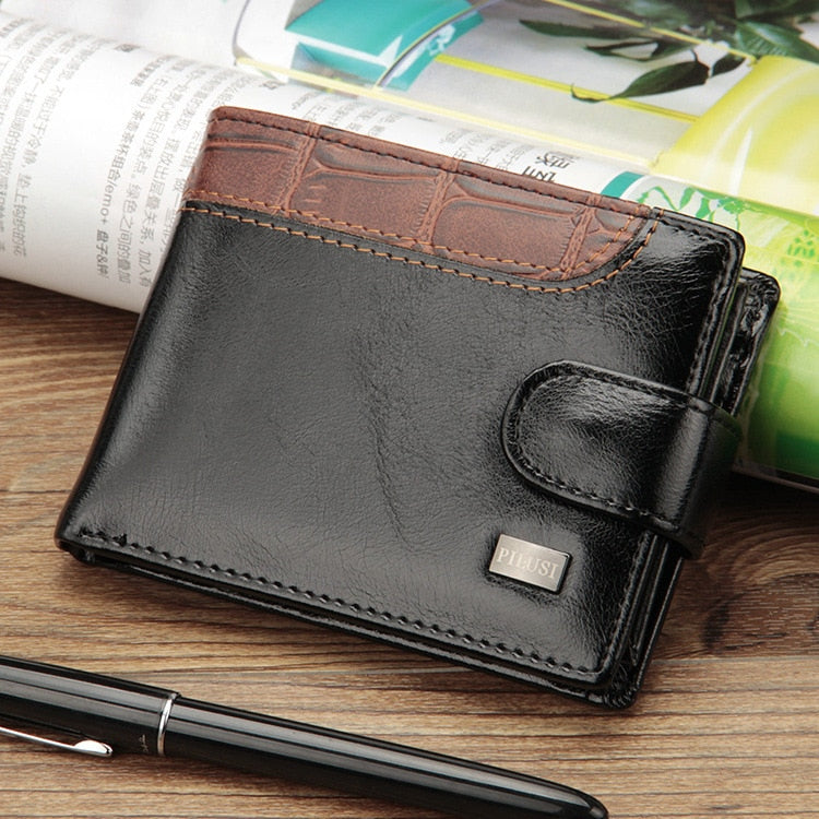 Premium Patchwork Leather Wallet