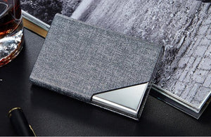 Leather/Metal Credit Card Holder - 10 Colors