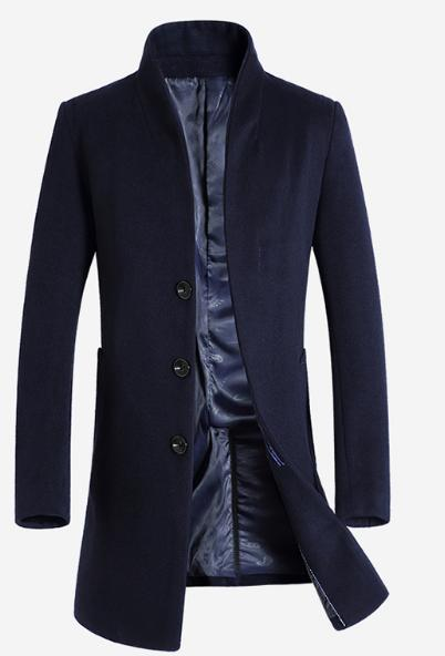 Luxury Slim Fit Long Woollen Coat