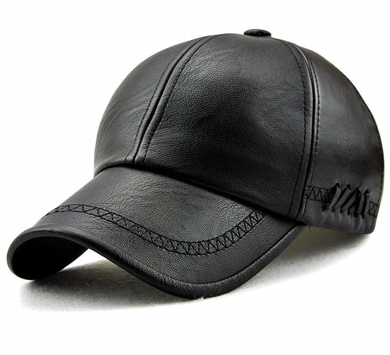 Luxury Leather Baseball Cap